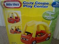 Little Tikes tykes cozy cosy coupe inflatable red yellow car play center 2 X bags ballS CAN DELIVER