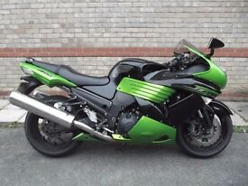 KAWASAKI ZZR1400 ABS 2012, with only 14400 miles, NEW CHAIN and SPROCKETS, 12 months MOT