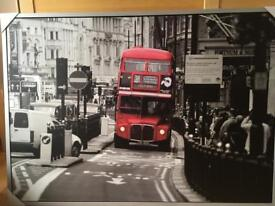 Large Red, Black and White Photo for Sale!