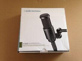 Audio Technica AT2020 Mic Microphone, Pristine Condition