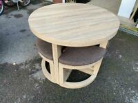 Seconique Camborne Round Dining Table and Stool set