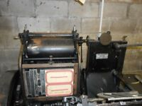 Heidelberg 10x15 Platen machine