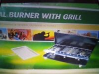 2 burner hob with grill & stand