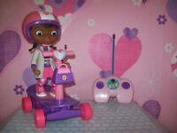 doc mcstuffins remote control doll/scooter