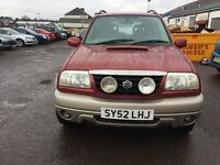 2002 SUZUKI GRAND VITARA ESTATE 2L DIESEL 4x4 NEW WATER PUMP, TIMING BELT KIT, READY TO GO