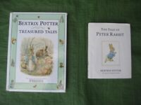 2 Beatrix Potter Books in Hardback and Colour: 4 Treasured Tales for £6 and Tale of Peter Rabbit £2
