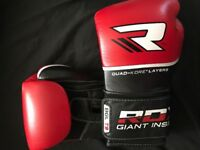 RDX Leather MMA/Boxing Gloves (free inner wrap)