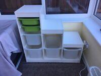 Ikea trofast storage unit shelves