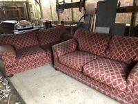 Large Double Sofa's x 2