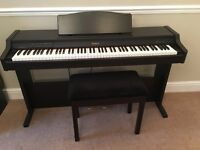 Roland digital piano and stool, excellent condition