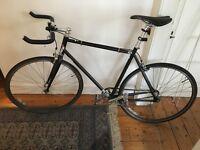 Black Single Speed bike - Charge Plug - with bike pump, helmet, lights, mud guards and accessories