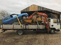 Light haulage hiab hire crane hire scrap uplift