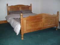 Lovely Antique Pine Quality Double Bed.