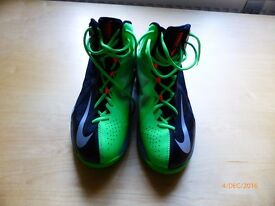 Nike Air Max Stutter Step 2 Men's BLACK/Green Basketball SHOES - Size UK6 (EU40)
