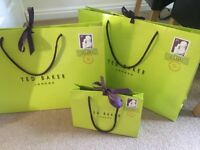 Ted Baker gift/shopping bags x3