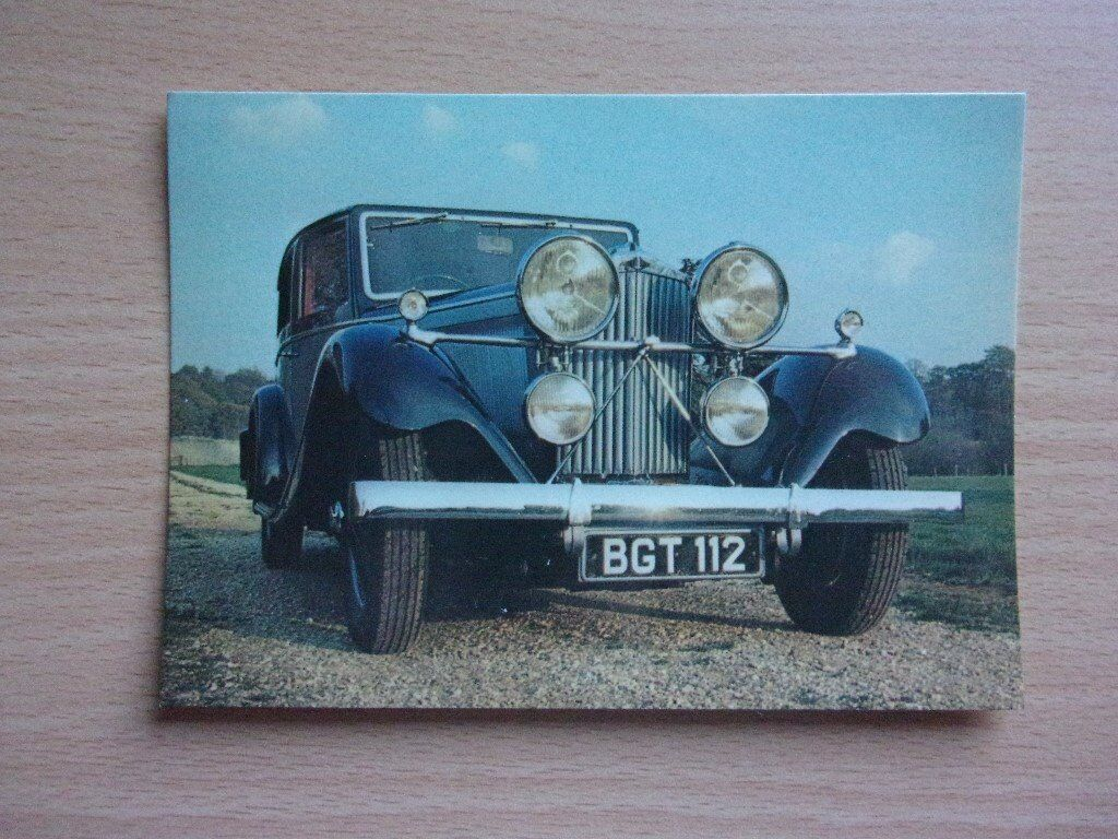 VINTAGE 1934 TALBOT 105. CLASSIC CARS. VERY CLEAN REAL PHOTOGRAPH POSTCARD.