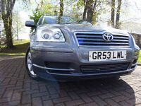 04 TOYOTA AVENSIS T3 1.8,MOT DEC 017,PART HISTORY,2 KEYS,3 OWNERS,VERY RELIABLE FAMILY TRANSPORT