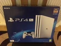 SONY PLAYSTATION 4 PRO CONSOLE - 3X GAMES OPTIONAL - BRAND NEW AND SEALED PS4 - WHITE
