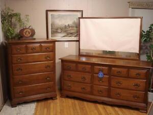 "Gorgeous Maple ""Knechtel"" Dresser Set"