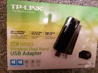 TP LINK WIFI ADAPTER AC 1200 - Archer T4U - Fastest Wifi USB Adapter