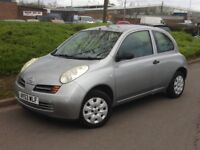 2003 NISSAN MICRA 1.2 **LOW MILES ONLY 78000**12 MONTHS MOT**CHEAP RUNNING COSTS**