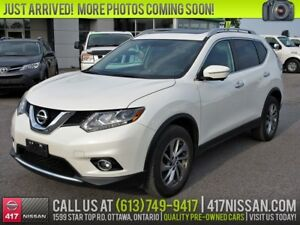2015 Nissan Rogue SL AWD | Navigation, Pano-Moonroof, Leather