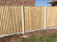 🍁New Pressure Treated Brown Feather Edge Flat Top Fence Panels• Excellent Quality new