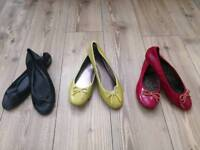 CHEAP BUT IN GREAT CONDITION BALLERINA PUMPS from JOHN LEWIS, LONDON REBEL, DUNE