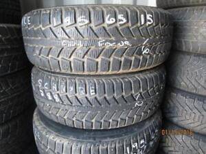 195/65R15 SET OF 4 USED UNIROYAL WINTER TIRES ON FORD FOCUS RIMS