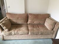 2 Large 4 seater sofas (John Lewis fabric & made by Sofa company in Bath)