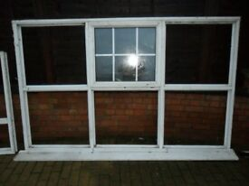 Double Glazed Window 2400mm x 1220mm Georgian Style Glass ( Used )