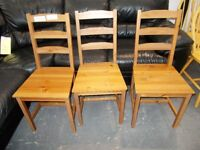 3 x Dining Chairs…RF4629