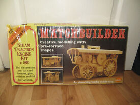 steam traction engine kit, Matchbuilder Steam Traction Engine Kit c 1910