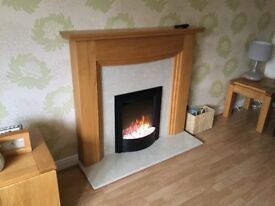 Simplex Fire, Oak Surround and Marble