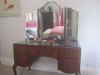 Edwardian Walnut Bedroom dressing table and draws