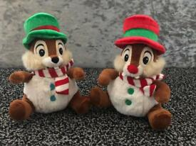 Chip and Dale snowball plush