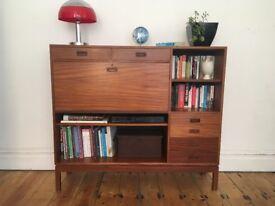 H. Morris Mid Century Double Sideboard Unit Teak Danish Style