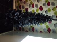 6ft Next Black Christmas Tree with Glitter tips