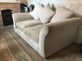 Large Two Seater Sofa settee plus scattercushions