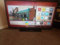 """42"""" SMART TV LED FullHd Hitachi with USB Player and HD Freeview"""