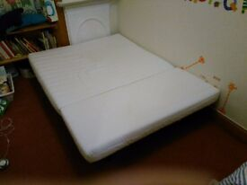 2-seat sofa bed and cover for sale