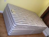 CAN DELIVER - SPACE SAVER 4FT SMALL DOUBLE DIVAN BED WITH MATTRESS IN GREAT CONDITION