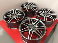 """4 NEW 19"""" ALLOYS WHEELS TO FIT ALL MERCEDES AMG A B C E S CLASS SPORTPLUS W204"""