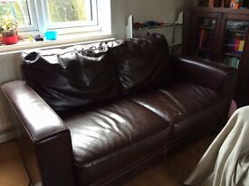 2 seater and 3 seater leather settees / sofas