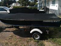 12' harbercraft aluminum boat and trailer