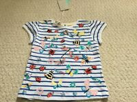 GIRLS MONSOON BRAND NEW TSHIRT, WITH TAGS, INSECTS PATTERN