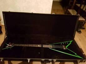 Bass guitar - Dime Razorback flying V (What a Christmas present!)