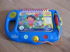 LEAPFROG MY FIRST LEAP PAD £50+ on Amazon with 5 star rated book Dora - IMMACULATE CONDITION