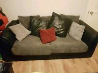 Fabric sofas and table £120