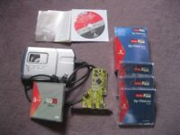 Iomega 750MB Firewire Drive plus disks and card